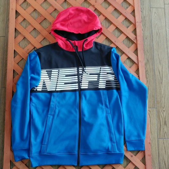 NEFF ネフ 【FLINT SHREDDER】 BLUE 青/黒/赤 US-Lsize 防風撥水ソフトシェル ジップフーディー 正規品