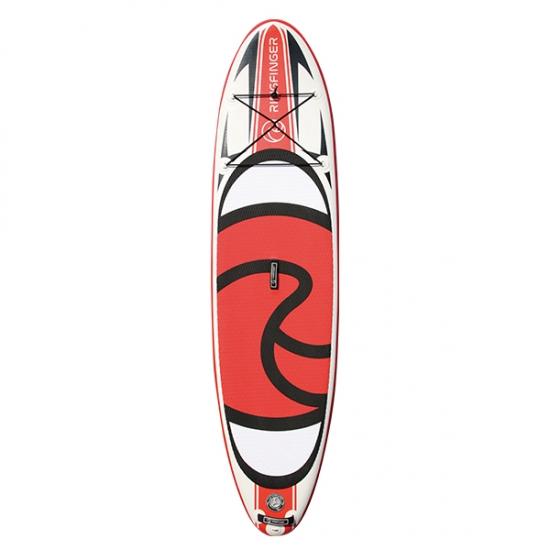 RINGFINGER リングフィンガー 【ALLROUND 10.6 SUP】 RED 赤/白/黒 インフレータブルサップ カーボンパドル付きフルセット 折りたためて専用バックに入ります 正規品