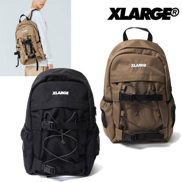 XLARGE TRUCK エクストララージ ベージュ リュックサック LOGO STANDARD バックパック HOOK ブラック BACKPACK メンズ 01193018
