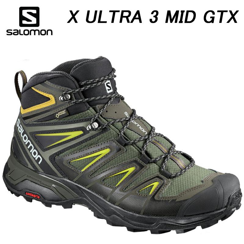 【送料無料】【あす楽】 SALOMON サロモン X ULTRA 3 MID GTX Xウルトラ 3ミッド ゴアテックス L40133700