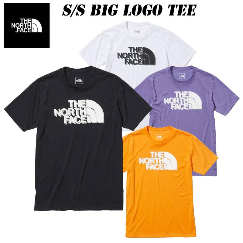 タウンユース アウトドアリサイクルポリエステル素材を使用したTシャツ あす楽 ザ 卓越 ストア ノースフェイス ショートスリーブ ビッグロゴティー メンズNT32171 THE FACE Tee S NORTH Tシャツ Big 2021NEW Logo アウトドア