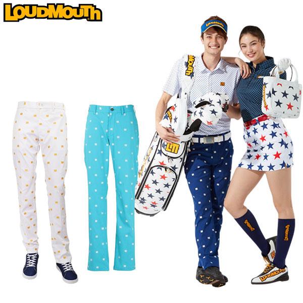 ラウドマウス ゴルフウェア メンズ ロング ストレッチ LMロゴ 飛び柄 パンツ 760301 2020SS (ゆうパケット発送)