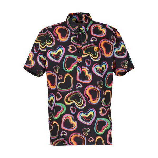 ラウドマウス メンズ ゴルフウェア 760606 半袖 ポロシャツ カラー:240 エレクトリックハーツ(Electric Hearts) 2020SS