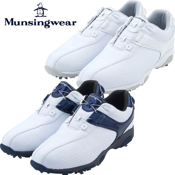 送料無料 即納 入手困難 あす楽対応 日本正規品 マンシングウェア ゴルフシューズ メンズ 01 3E ディスカウント MQ2NJA00 ダイヤル式 Munsingwear スパイク