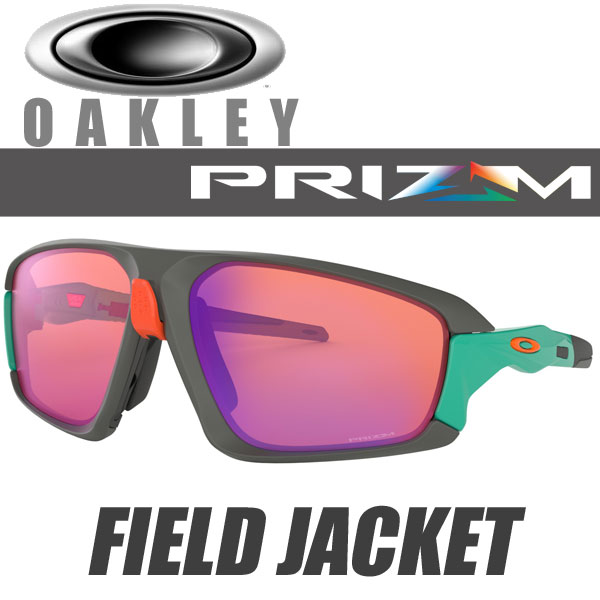 OAKLEY FIELD JACKET PRIZM TRAIL OO9402-0464 (オークリー フィールドジャケット サングラス) プリズムトレイル レンズ / マットダークグレー フレーム