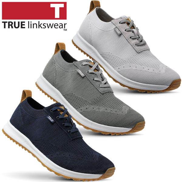 True Linkswear トゥルーリンクスウェア スパイクレス ゴルフシューズ ジェントニット (TEMS GK) 日本正規品