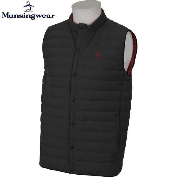 MUNSINGWEAR マンシングウェア ゴルフ メンズ アウターベスト GWMK650 N244 チャコール 17fwcz