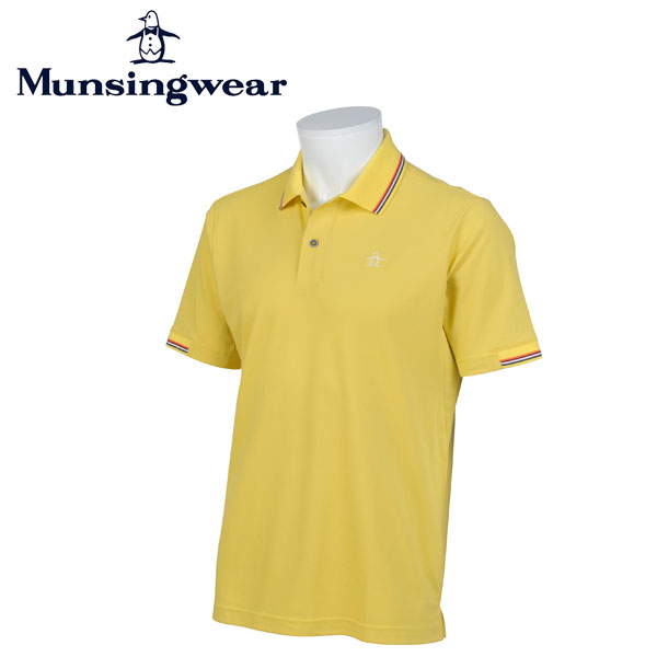 MUNSINGWEAR マンシングウェア ゴルフ メンズ 半袖 ボタン シャツ シャツ JWMJ234 Y816 イエロー 17sscz