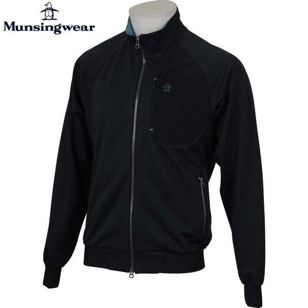 MUNSINGWEAR マンシングウェア ゴルフ メンズ 長袖フルジップカットソー JWMK553 M145 ネイビー 17fwcz