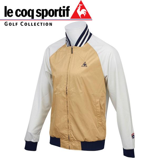 LE COQ SPORTIF ルコックスポルティフ ゴルフ メンズ 長袖 フルジップブルゾン ジャケット QG4727 N881 ストーン 17sscz