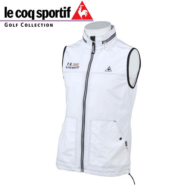 le coq sportif Golf ルコックスポルティフ ゴルフ メンズ クラシカル アウター ベスト QGMMJK50 WH00 ホワイト 18fwpz