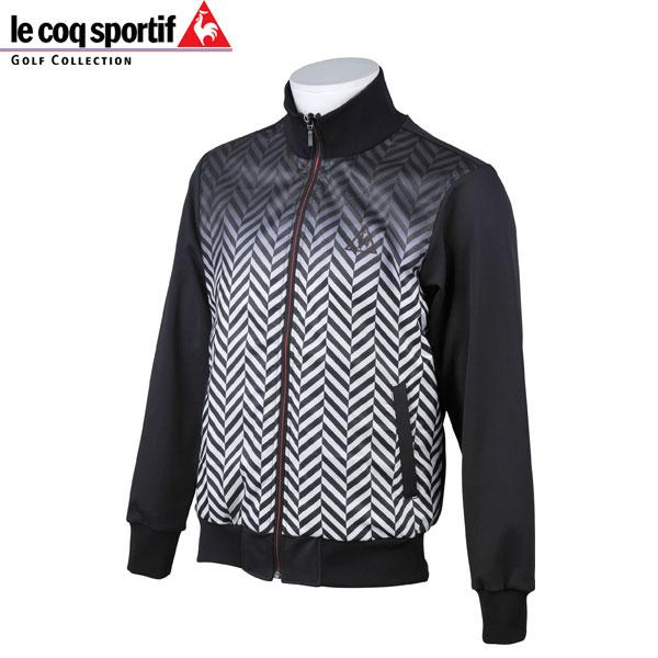 le coq sportif GOLF メンズ ゴルフ ジャケット ブルゾン 長袖 フルジップ QGMMJL54 BKブラック ルコックスポルティフ ゴルフ 18fwpz