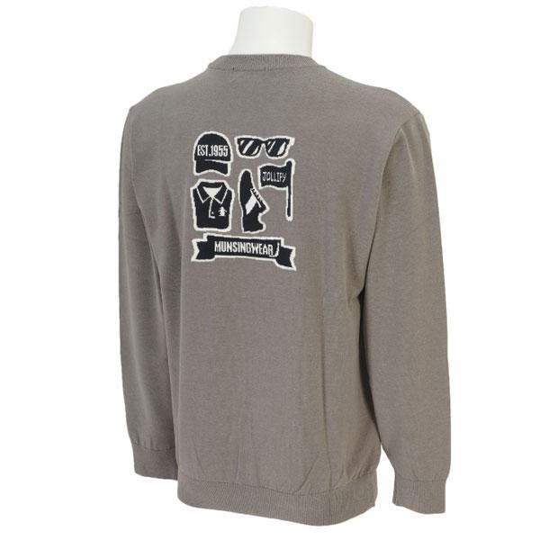 【Munsingwear】 メンズ ゴルフウェア SG4323 Uネック ニット トレーナー N500 グレー (マンシングウェア ゴルフ) 【15fwcz】
