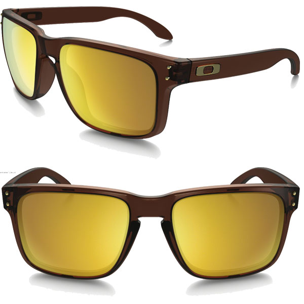 Oakley Holbrook sunglasses OO9244-05 Asian Japan fit OAKLEY HOLBROOK ASIAN FIT 24 K Iridium / Matt root beer