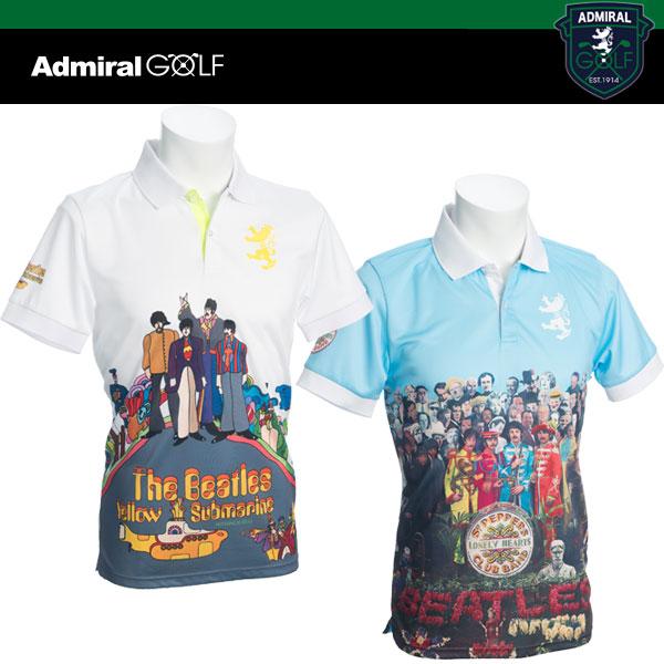 ADMIRAL GOLF THE BEATLES ゴルフ フォト 半袖 ポロシャツ ADMA 702 アドミラル ゴルフ ビートルズ