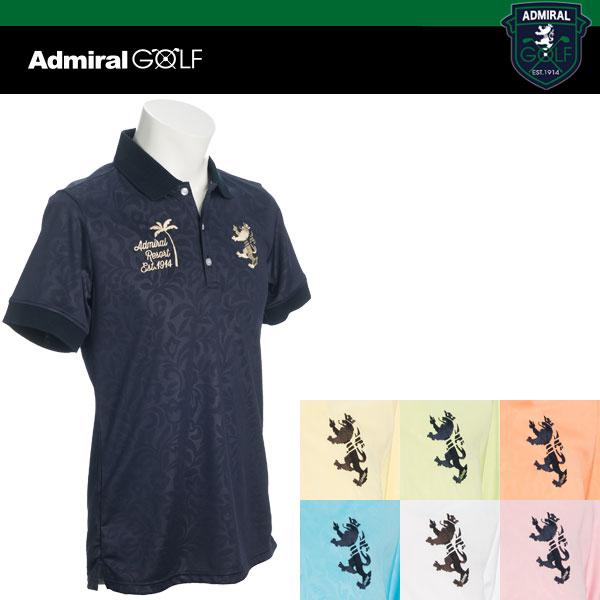 ADMIRAL GOLF アドミラルゴルフ ボタニカル エンボス 半袖 ポロシャツ ADMA 751