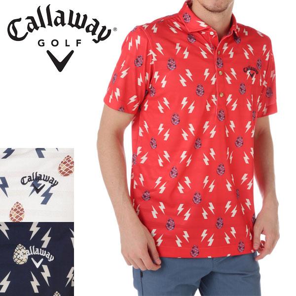CALLAWAY APPAREL ライトニング パインコーン ワイドカラー 半袖 シャツ 7157513 キャロウェイ アパレル ゴルフウェア