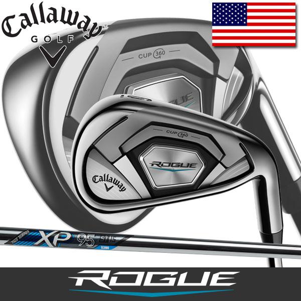Callaway Rogue アイアン 6本セット (5番~9番、PW) トゥルーテンパー XP95 ステップレス スチールシャフト USAモデル / キャロウェイ ローグ