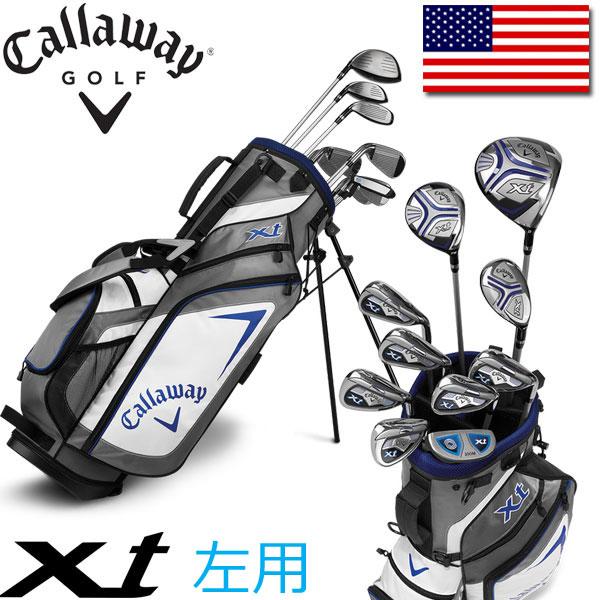 レフティ / 左用 Callaway ゴルフ ティーン ジュニア セット XT (クラブ10本、スタンドキャディバッグ、ヘッドカバー) キャロウェイゴルフ USA