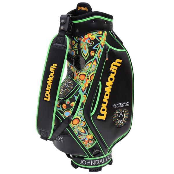 LOUDMOUTH ラウドマウス ゴルフ ジョン・デイリー コレクション 9型 キャディバッグ カートバッグ  JD- CB0002 020 シャガデリックブラック