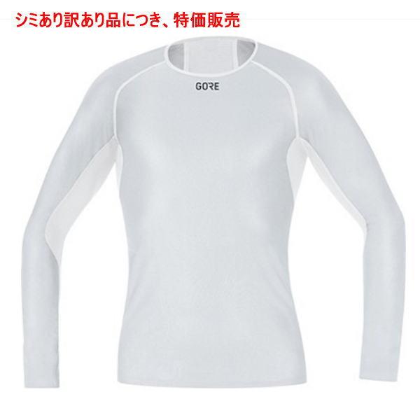 GORE ゴア ランニング ウインドストッパー ベースレイヤー ロングスリーブ シャツ 100323 ホワイト