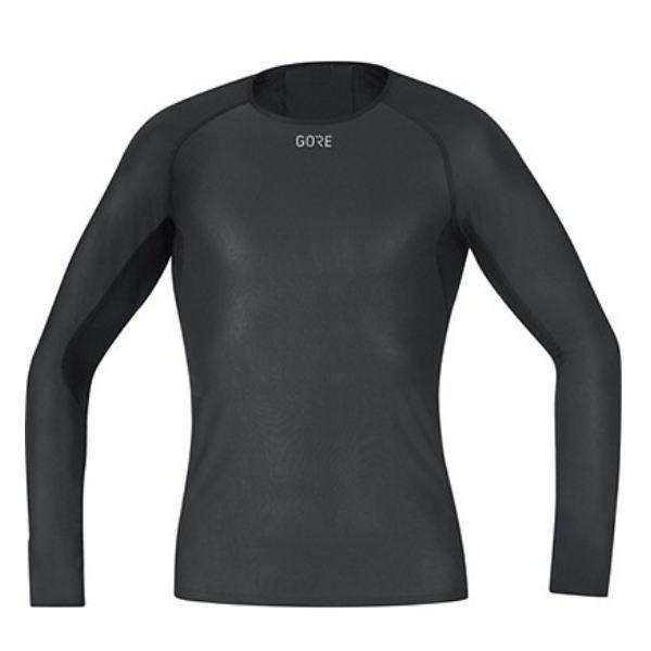 GORE ゴア ランニング ウインドストッパー ベースレイヤー ロングスリーブ シャツ 100323 ブラック