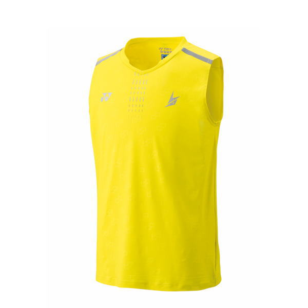 YONEX ヨネックス バドミントン ゲームシャツ(ノースリーブ) メンズ 10323 ライトイエロー