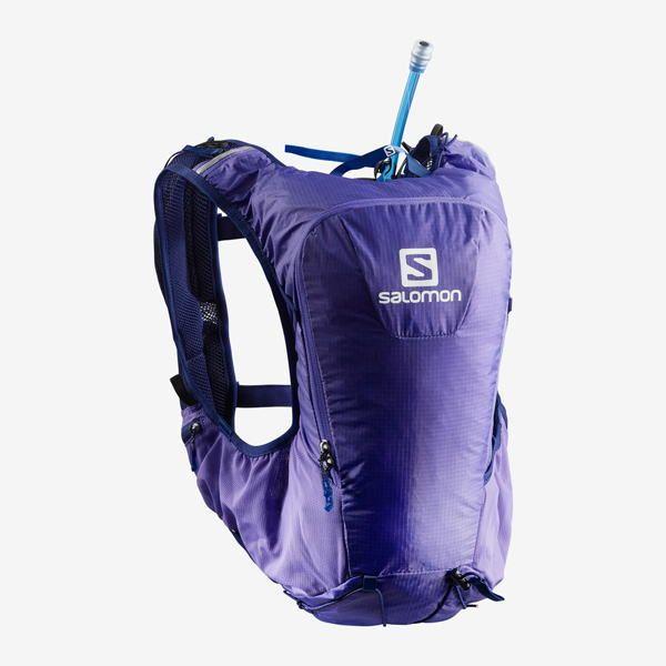 SALOMON サロモン トレイルランニング ベスト バックパック SKIN PRO 15 SET L40136700 PURPLE OPULENCE/MEDIEVAL BLUE
