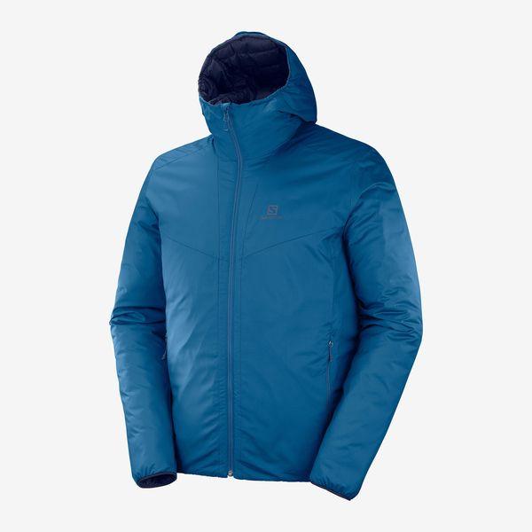 SALOMON サロモン トレイルランニング ジャケット メンズ DRIFTER LOFT HOODIE M LC1201600 POSEIDON/NIGHT SKY