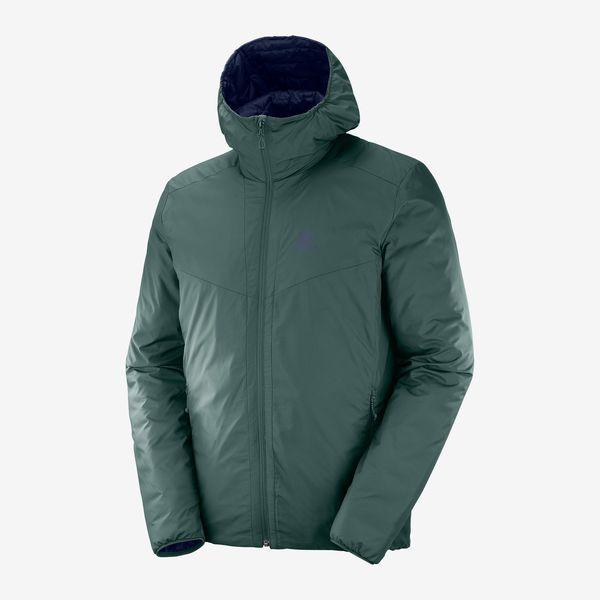 SALOMON サロモン トレイルランニング ジャケット メンズ DRIFTER LOFT HOODIE M LC1201800 GREEN GABLES/NIGHT SKY