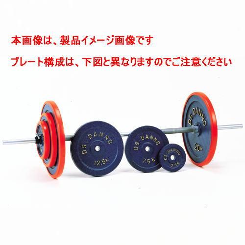 DANNO ダンノ B型バーベル60kgセット[φ28mm/150cm/7.5kgシャフト] D-609