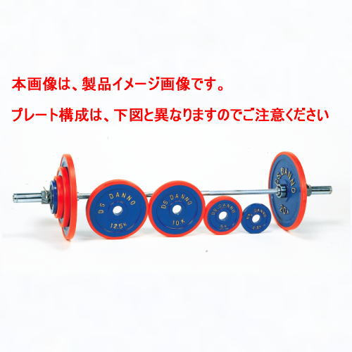DANNO ダンノ A型バーベル100kgセット[φ50mm] D-646