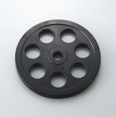 DANNO ダンノ A[φ50mm用]シリーズ共通穴付ラバーベルプレート 15kg D-5874