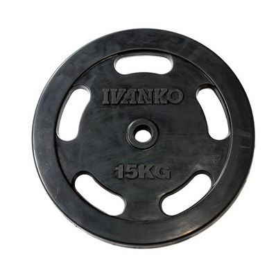 IVANKO イヴァンコ φ28mm スタンダードラバーイージーグリッププレート RUBKZ-15kg