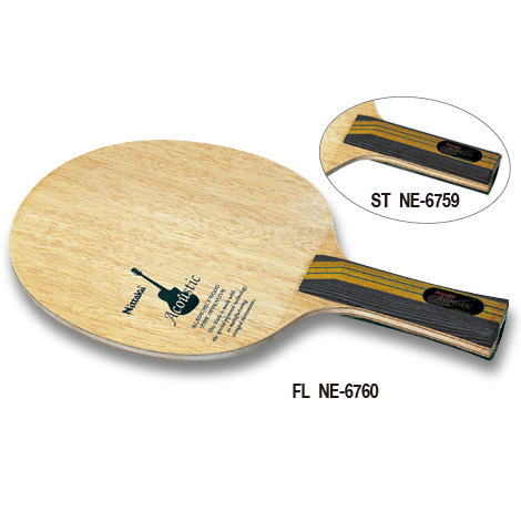 ニッタク Nittaku 卓球ラケット アコースティック 攻撃用シェークハンド ST NE-6759 ストレート
