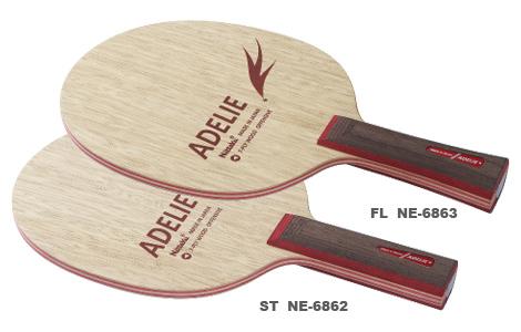 ニッタク Nittaku 卓球ラケット アデリー 攻撃用シェークハンド ST NE-6862 ストレート
