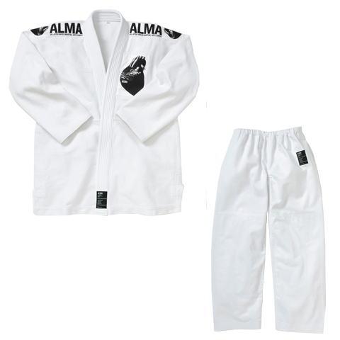 マーシャルワールド ALMA アルマ レギュラーキモノ国産柔術着 JU1 A4 白 上下セット