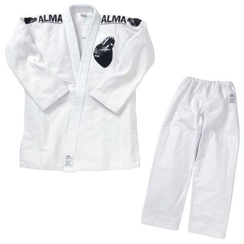 マーシャルワールド ALMA アルマ 海外製柔術着[白帯付] JU2 A0号 白 上下セット