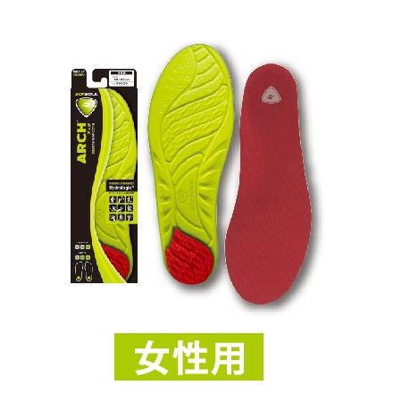 靴シューズ中敷き SOFSOLE ソフソール インソール中敷き アーチ レディース 女性用 M 11121 インドアスポーツ用