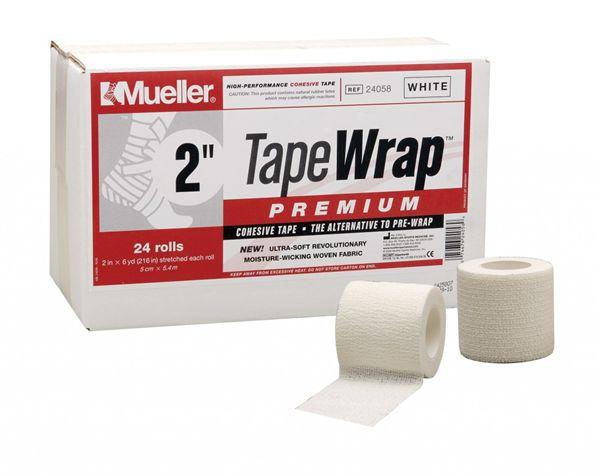 Mueller ミューラー テーピング テープラップ プレミアム50mm 24個入り 24058自着性伸縮テープ ホワイト[T]
