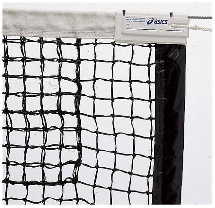 アシックス asics 国際式全天候硬式テニスネット 118000 ブラック