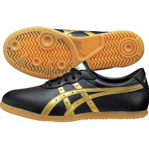 reputable site b3c89 ebd9b black / gold wooshu TOW013 WU, Tai Chi shoes ASICs ASICs