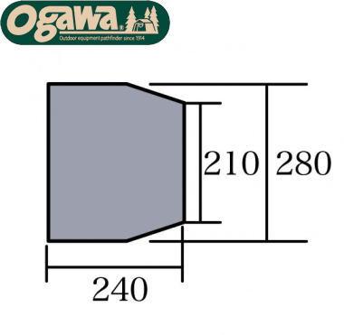 Campal Japan キャンパルジャパン テント床下 PVCマルチシート アルマディ6用 1418