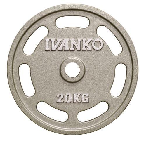 IVANKO イヴァンコ φ50mmオリンピックペイントイージーグリッププレート OMEZ-20kg