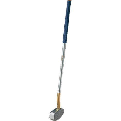 アシックス グラウンドゴルフクラブ スレンダーツインカーブS 一般右打者専用 GGG178 シルバーブルー<店頭在庫限り>