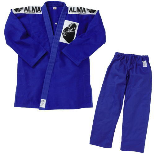 マーシャルワールド ALMA アルマ 海外製柔術着[白帯付] JU2 A5号 青 上下セット<在庫僅少>