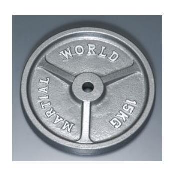 マーシャルワールド アイアンプレート穴径28mm 15.0kg P15000 バーベル/ダンベル用