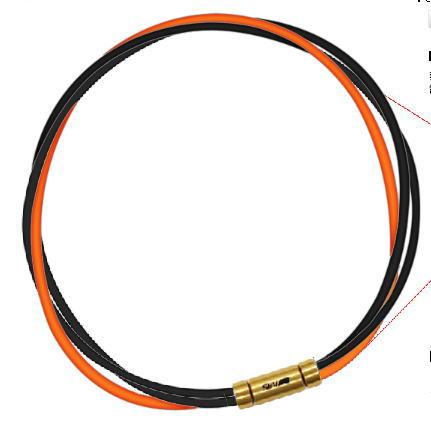 セブ SEV スポーツネックレス ルーパータイプ3G ブラック2本/オレンジ