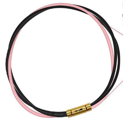 セブ SEV スポーツネックレス ルーパータイプ3G ブラック2本/ピンク