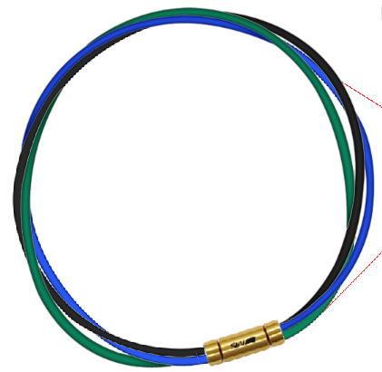 セブ SEV スポーツネックレス ルーパータイプ3G ブラック/ブルー/グリーン